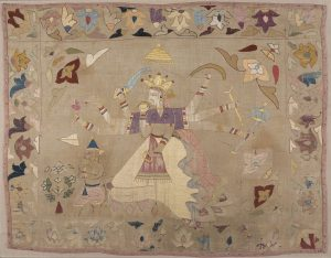 A Chamba Rumal depicting a scene from the Ramayana
