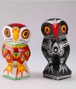 The special and infamous wooden owl which was also used to worship Goddess Lakshmi